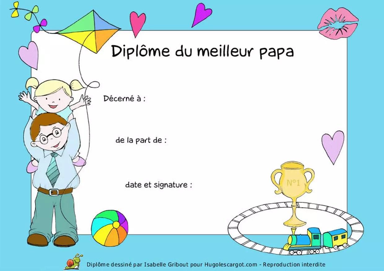 Diplome Meilleur Papa A Imprimer Gratuit