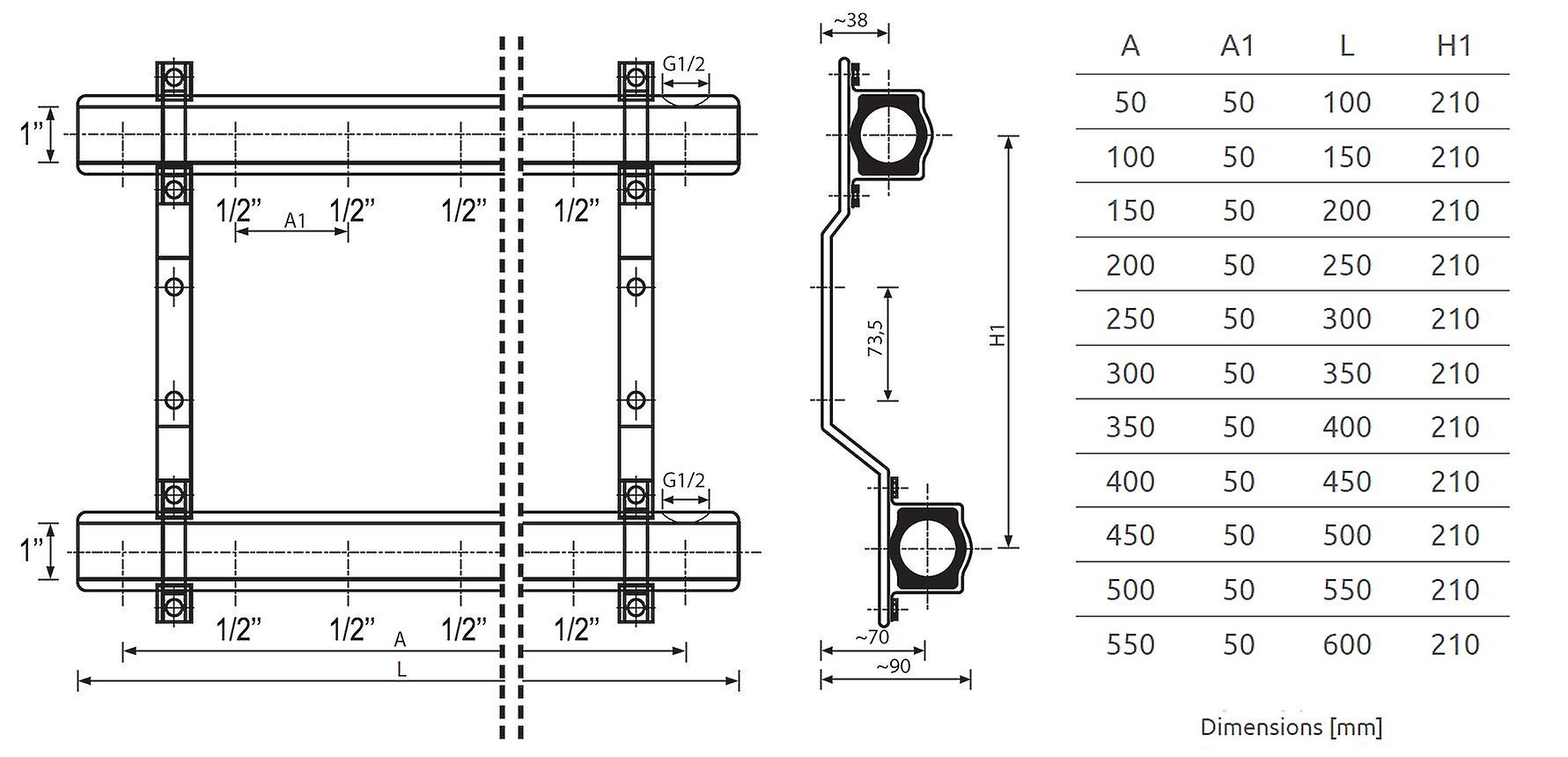 Several Ports Brass Heating Distributor Building Circuit Manifold System