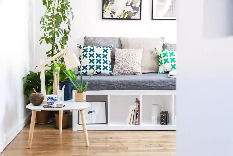 Une Banquette A Partir D Une Etagere Ikea