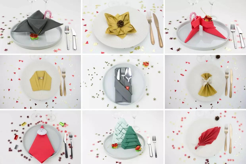 12 Pliages De Serviettes Faciles Pour Votre Table De Noel