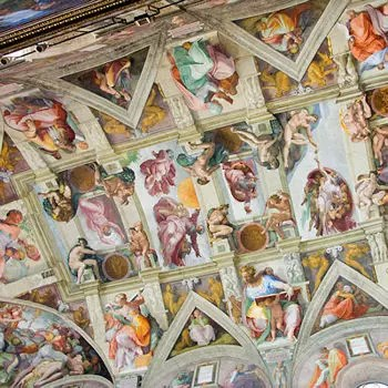 En Italie Le Plafond De La Chapelle Sixtine