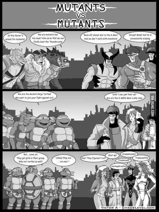 Mutants VS Mutants