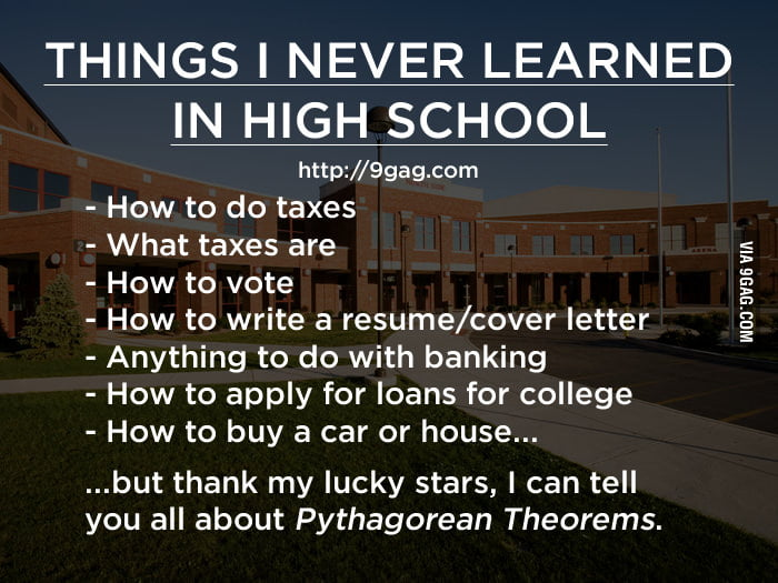 Things I never learned in high school