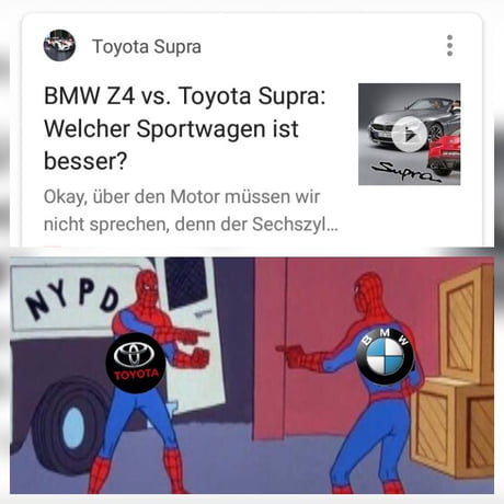 Which One Is Better Bmw Z4 Or Toyota Supra 9gag