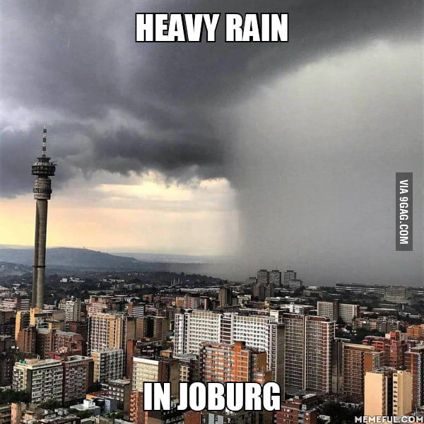 Heavy rain. in joburg