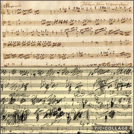 Mozart S Handwriting Vs Beethoven S Handwriting 9gag