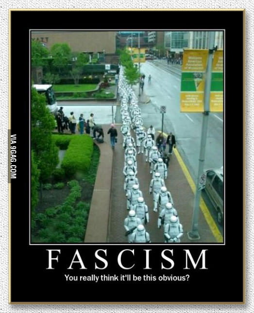 Do you really think fascism will be this obvious?
