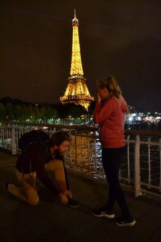 If you stop to tie your shoes in Paris your gf will cry.