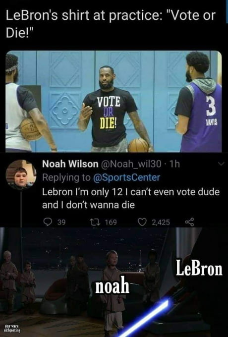 Damn LeBron, let that kid live