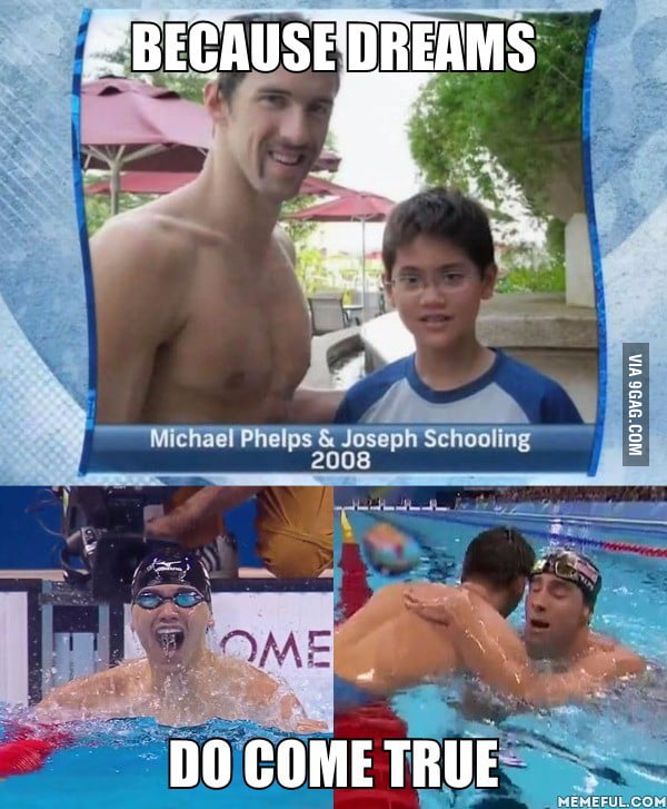 Joseph Schooling beats Michael Phelps in 100m butterfly and wins Singapore's first ever Olympic gold.