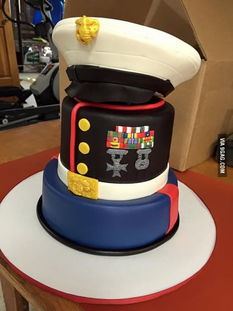 80th Birthday Cake For A Friend S Father A Retired Us Marine Corps Sergeant Major 9gag
