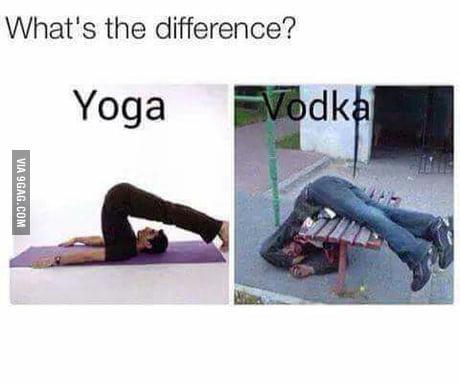 Yoga Vs Vodka 9gag