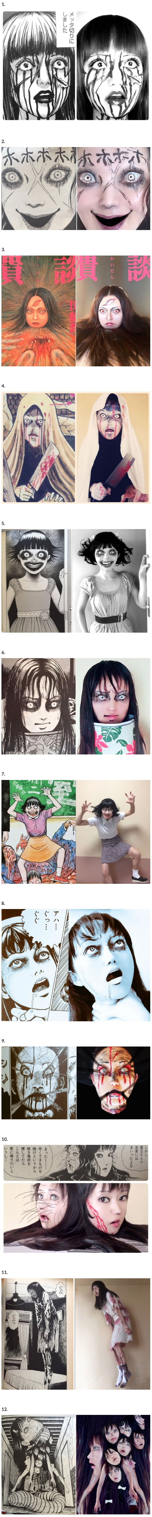 Japanese Cosplayer Brings Junji Ito's Manga into Terrifying Reality (By Ikura)