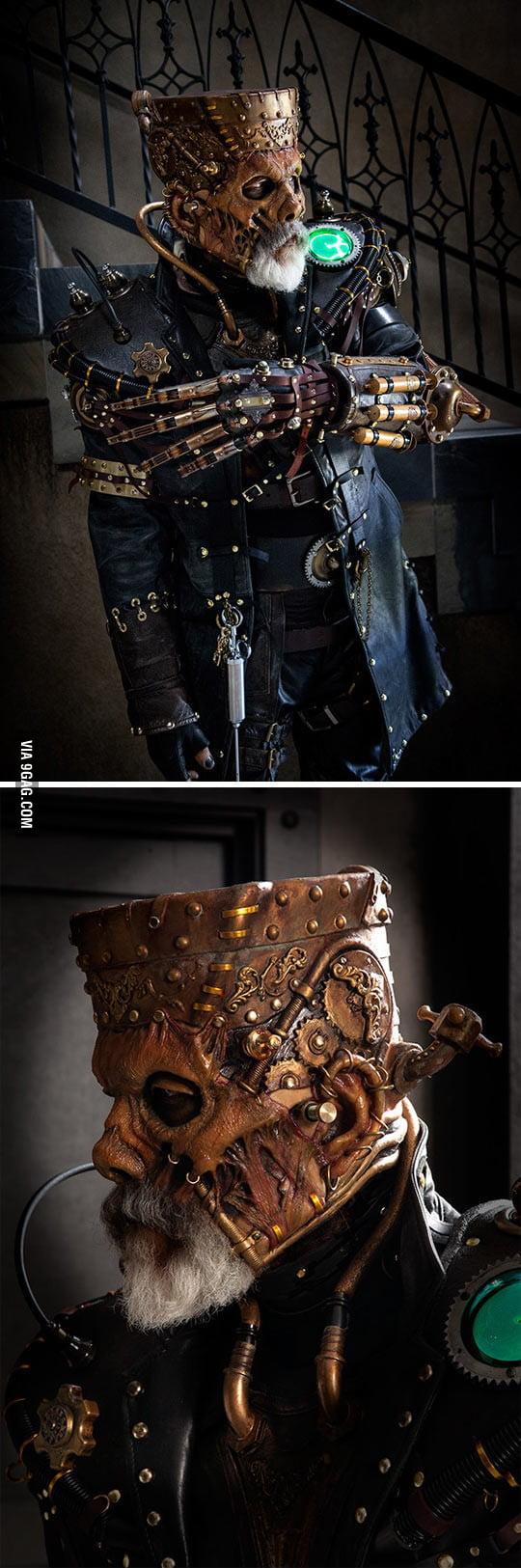Insane steampunk Frankenstein's monster costume...