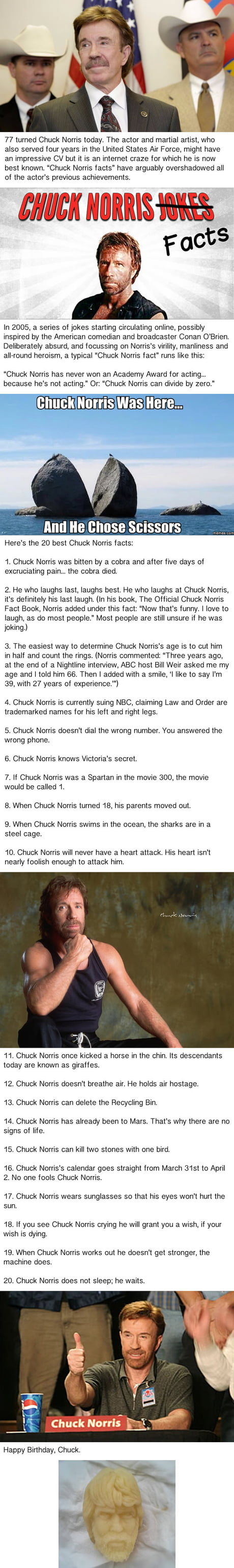 Happy Birthday To Chuck Norris The Man Who Can Clap With One Hand 9gag