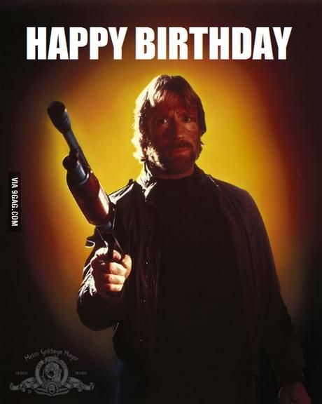 Happy Birthday Chuck Norris 10 March 9gag
