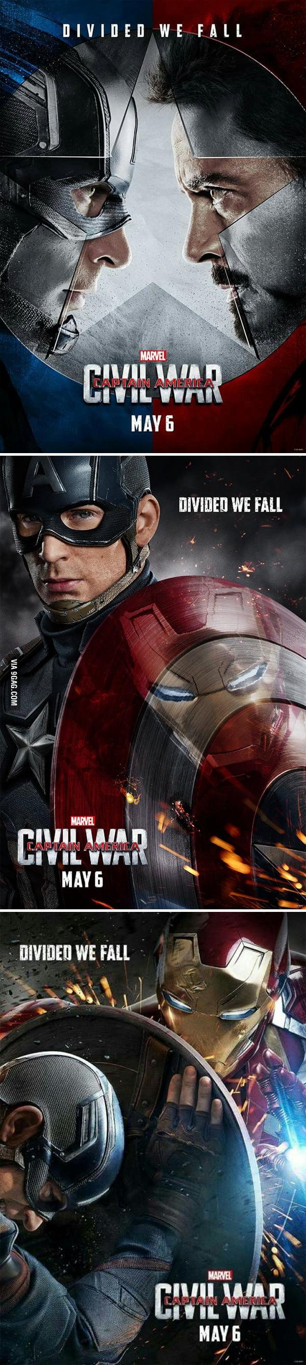 New Captain America: Civil War Posters!