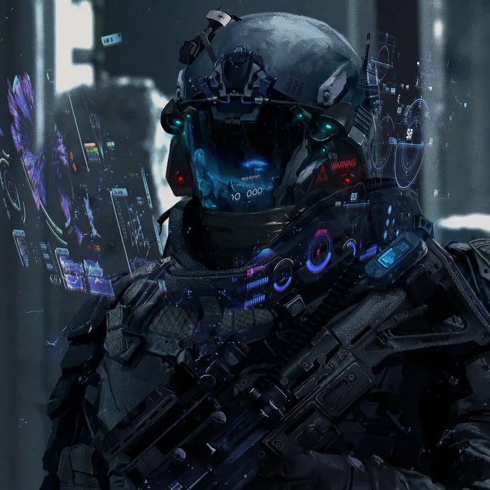 Futuristic Soldier Concept Art
