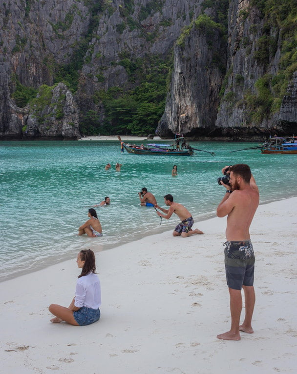 I was stood taking a photo of my girlfriend in the sea, then realised so was every other Instagram boyfriend