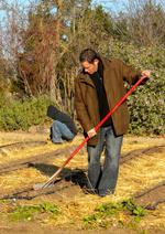 John Toulze working the farm