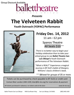 YOPAC Velveteen Rabbit Flyer 2012-1 2