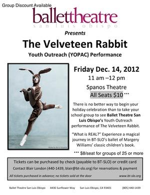 YOPAC Velveteen Rabbit Flyer 2012-1 2