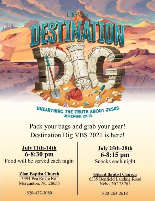 VBS Destination Dig 2021