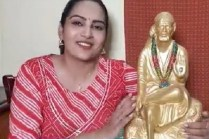 Big Boss fame revealed in video Vibhudi from Sai Baba statue