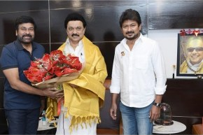 Megastar Chiranjeevi met Tamilnadu CM MK Stalin in Chennai
