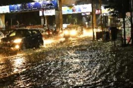 Heavy rain lashed Hyderbad