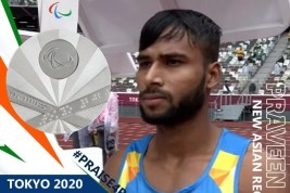Praveen kumar wins silver meda in Tokyo Palalympics