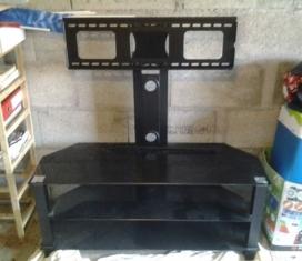 meuble tv hifi verre noir