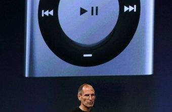 El interruptor de encendido del iPod shuffle de cuarta generación se encuentra en la parte superior del dispositivo.