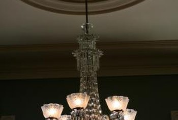 How to Measure the Size for a Chandelier Canopy   Home Guides   SF Gate A chandelier s canopy can match with a ceiling medallion to create a visual  transition between the