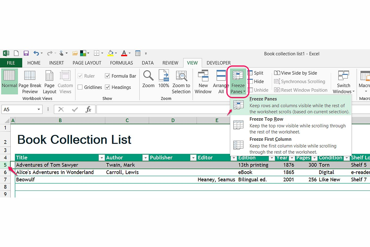 How Do I Use Microsoft Excel To Catalog Books