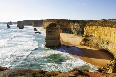 Rock formations along an Australian coatline.