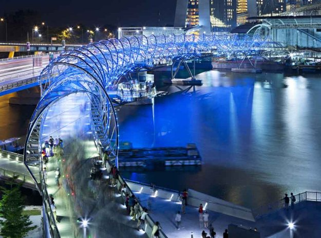 1. Helix Bridge, Marina Bay area, Singapore 2