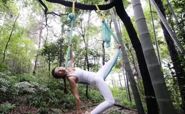 Anti-Gravity Yoga In Bamboo Forest (OMG) 5