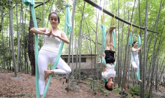 Anti-Gravity Yoga In Bamboo Forest (OMG) 6