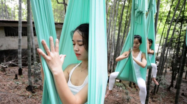 Anti-Gravity Yoga In Bamboo Forest (OMG) 9