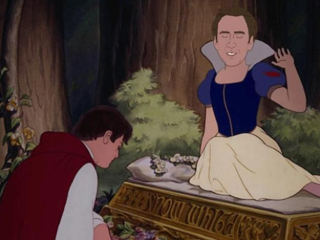 Nicholas Cage Sleeping Beauty