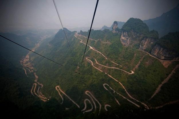 4) Tianmen Mountain Road, Hunan, China 1