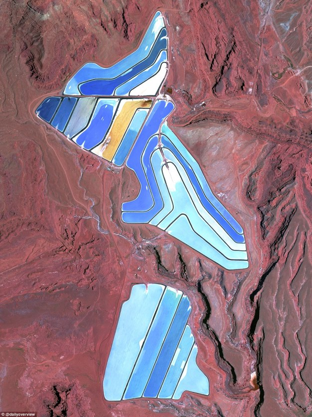 7. The Moab Potash Ponds, Utah, US