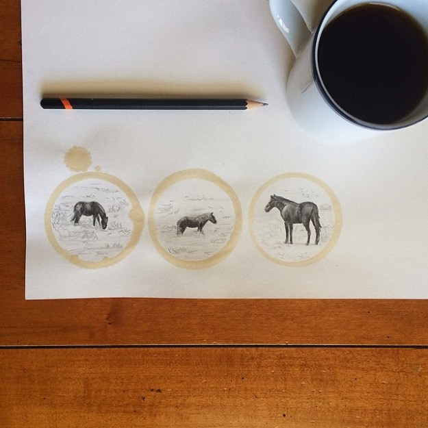 Amazing Coffee Stain Drawings by Carter Asmann 9