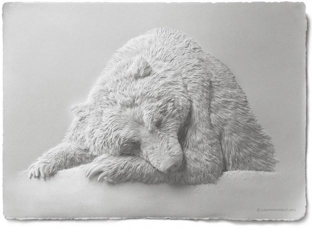 Super Realistic Paper Sculptures Of Animals By Calvin Nicholls 1