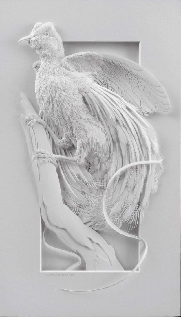 Super Realistic Paper Sculptures Of Animals By Calvin Nicholls 5