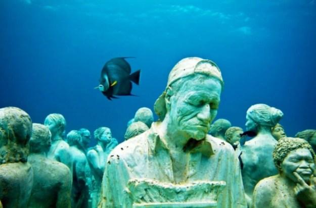 Underwater sculpture park   Brain Berries