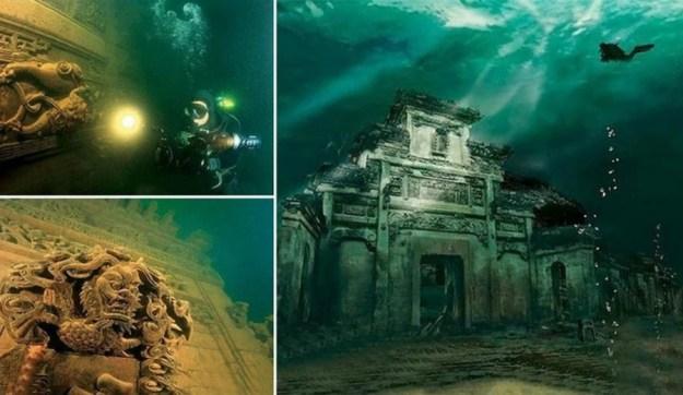 Shi Cheng underwater city, China   Brain Berries