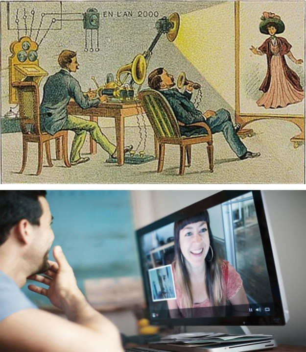 Video-chatting | 10 Modern Things That Were Predicted Hundreds Of Years Before They Appeared | Brain Berries