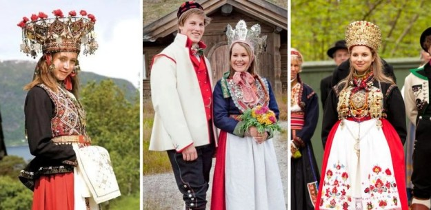 Norwegian wedding | The Most Stunning Wedding Looks From Around The World | Brain Berries